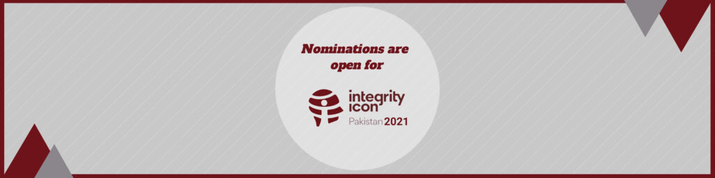 Nominations for Integrity Icon Pakistan 2021